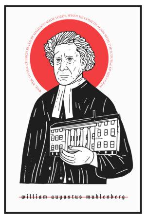 William Augustus Muhlenberg Icon Prayer Card
