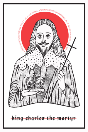 King Charles the Martyr Icon Prayer Card